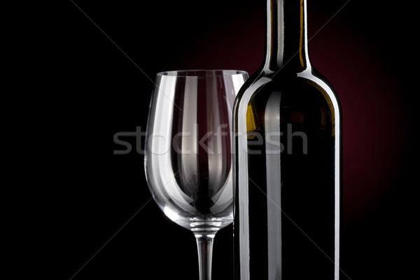 Wino czerwone butelki hiszpanski słynny la szkła Zdjęcia stock © Studiotrebuchet