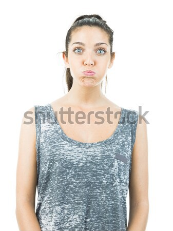 funny pretty woman Stock photo © Studiotrebuchet