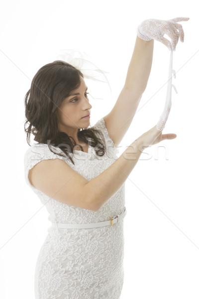 Kobieta tancerz real pretty woman stwarzające taniec Zdjęcia stock © Studiotrebuchet