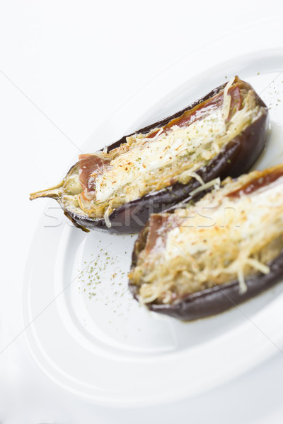 filled eggplant vegetal food Stock photo © Studiotrebuchet