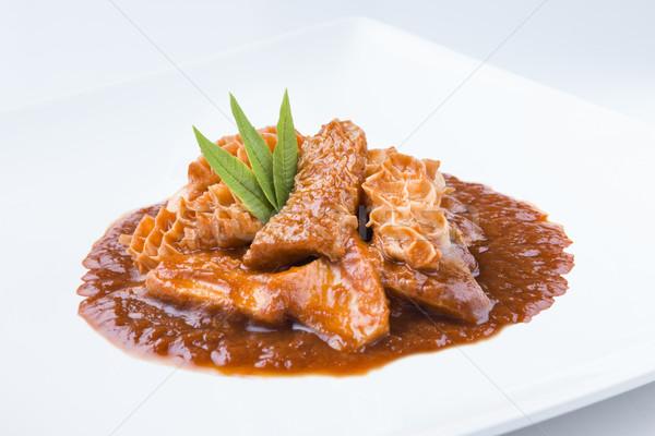 spanish cuisine callos beef tripes with sauce Stock photo © Studiotrebuchet