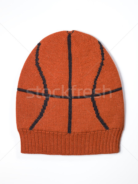 orange woolen handmade cap basketball ball alike Stock photo © Studiotrebuchet