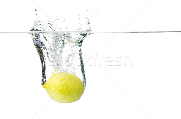 lemon in water Stock photo © Studiotrebuchet