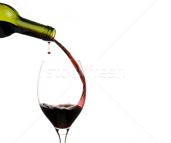 wine glass restaurant Stock photo © Studiotrebuchet