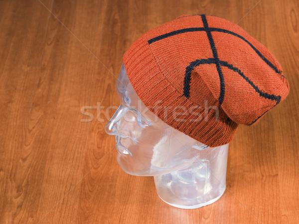 orange woolen handmade cap basketball ball alike Stock photo © Studiotrebuchet