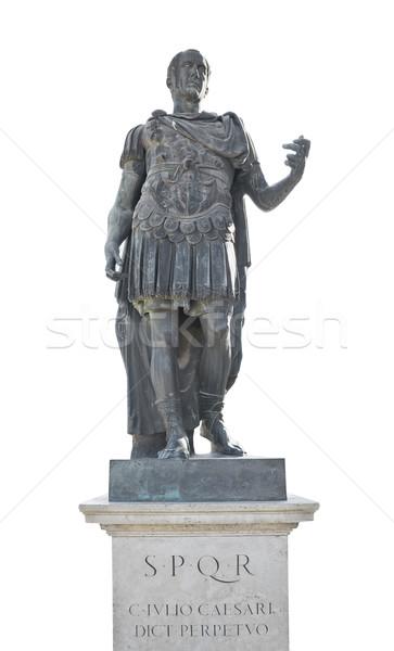 Caesar keizer standbeeld geïsoleerd witte leider Stockfoto © Studiotrebuchet