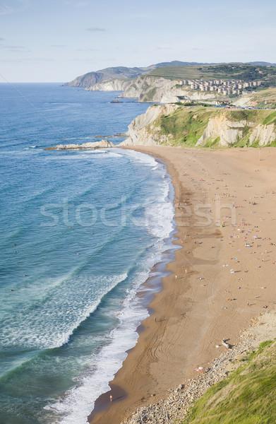 Mar paisaje imagen cielo playa nubes Foto stock © Studiotrebuchet