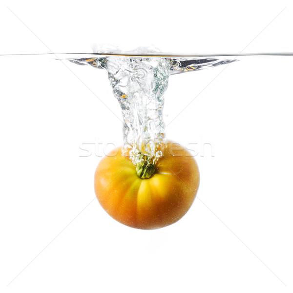 Tomaat water vers tank voedsel Stockfoto © Studiotrebuchet