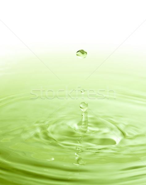Waterdruppel spa afbeelding eenvoud kleur water Stockfoto © Studiotrebuchet