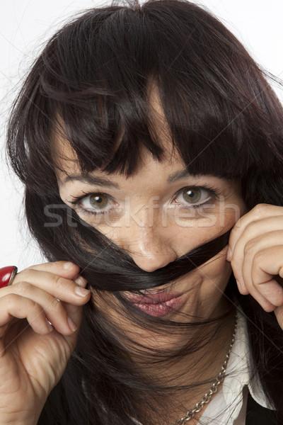 Wirklich posiert weiß Mode weiblichen Stock foto © Studiotrebuchet
