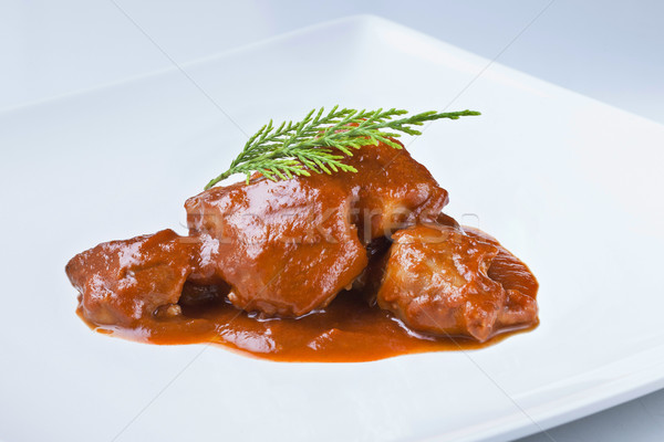 spanish cuisine pork feet with sauce odd but delicious Stock photo © Studiotrebuchet