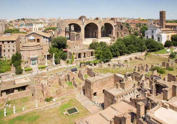 roman forum ruins Stock photo © Studiotrebuchet