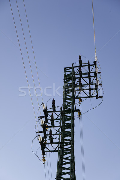 Távvezeték égbolt ipari erő elektromosság elektromos Stock fotó © Studiotrebuchet