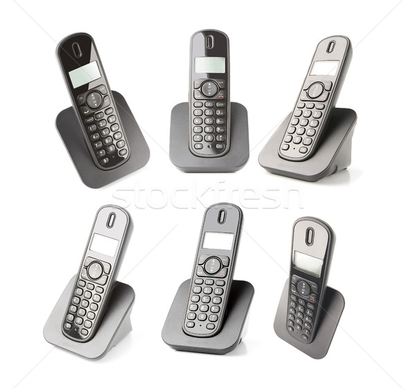 different captures of a dect phone Stock photo © Studiotrebuchet