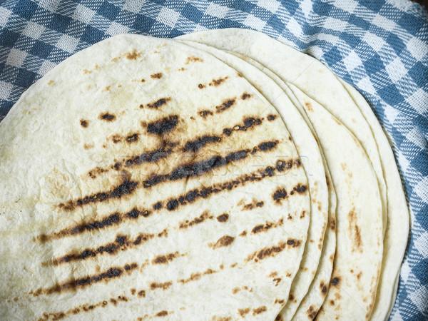 delicious tortilla for warp spicy chicken vegetables guacamole Stock photo © Studiotrebuchet