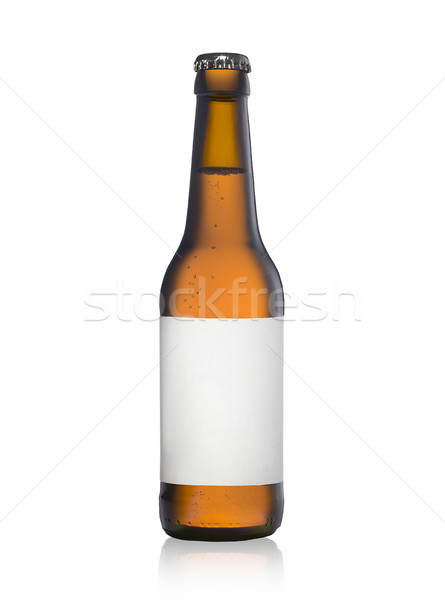 bottle of lager beer witih a blank label Stock photo © Studiotrebuchet