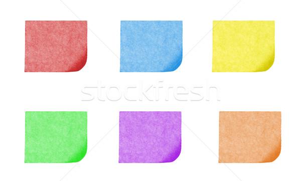 isolated blank postit paper on withe background Stock photo © Studiotrebuchet
