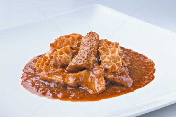 Spaans keuken rundvlees saus oneven heerlijk Stockfoto © Studiotrebuchet