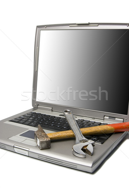laptop and tools Stock photo © Studiotrebuchet