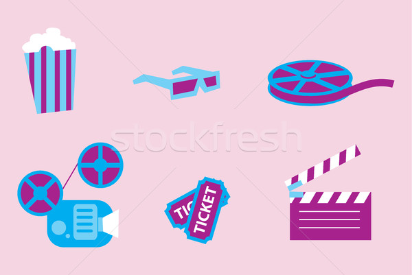 Cinema vector icon Stock photo © studioworkstock