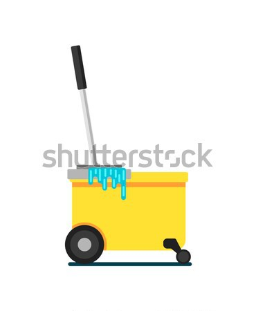 Warehouse freight cart with boxes icon Stock photo © studioworkstock