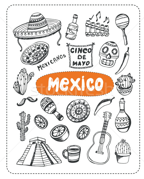 Doodle about Mexico. Stock photo © studioworkstock