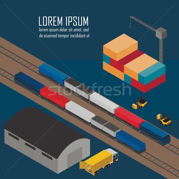 Warehouse management at railway depots. Stock photo © studioworkstock