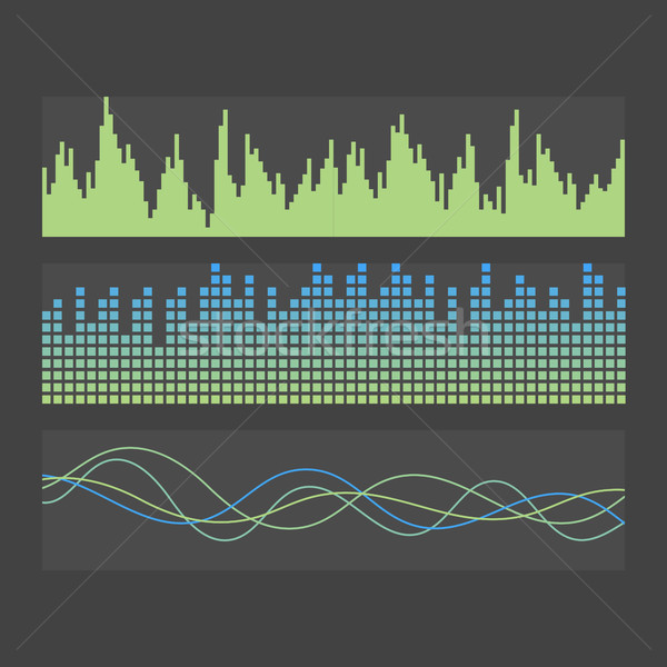 вектора звук волны набор аннотация музыку Сток-фото © studioworkstock