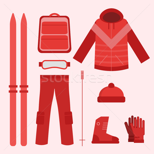 Ski infographics elements Stock photo © studioworkstock