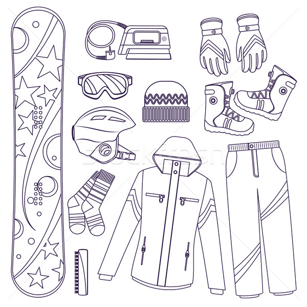 Snowboard extremo inverno esportes linha estilo Foto stock © studioworkstock