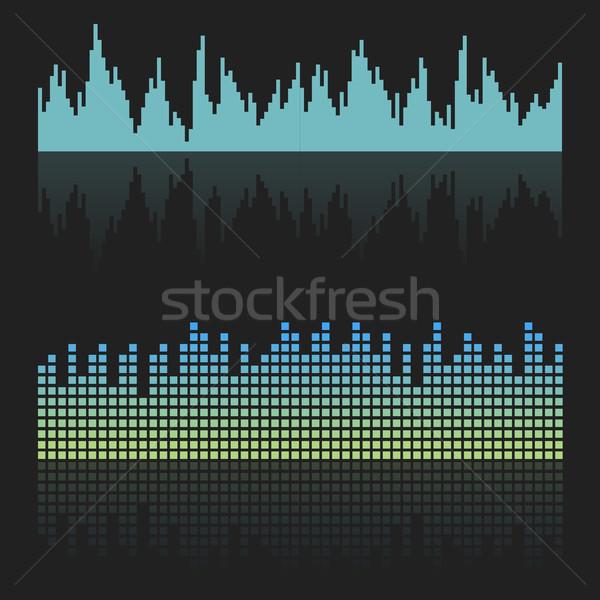 Vector sound waves Stock photo © studioworkstock