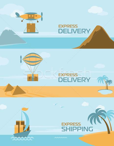 Szalag házhozszállítás expressz szállítás üzlet autó terv Stock fotó © studioworkstock