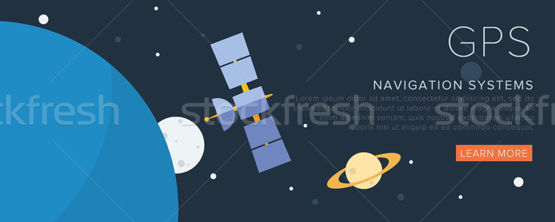 GPS satellite spazio mondo tecnologia terra Foto d'archivio © studioworkstock