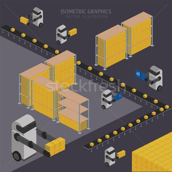 Warehousing process. Vector infographics. Stock photo © studioworkstock