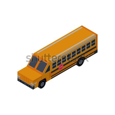Yellow school bus isolated isometric 3D icon Stock photo © studioworkstock