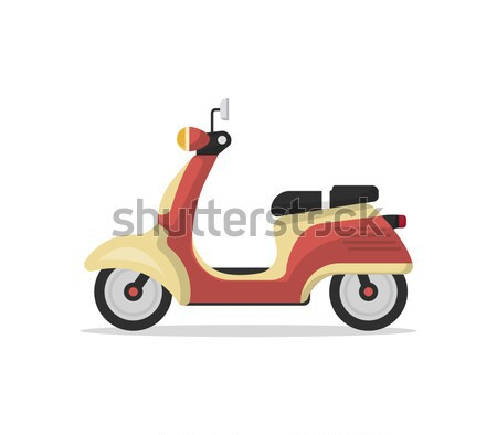 Courier with pizza boxes on motorbike Stock photo © studioworkstock