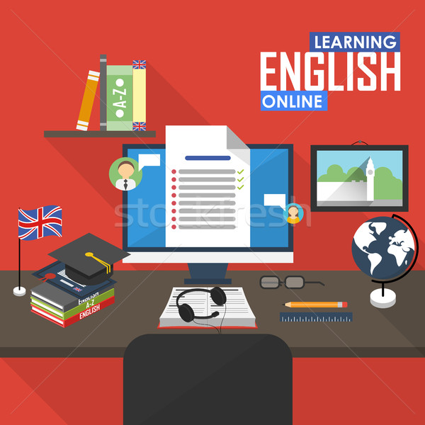 Distance English language. Stock photo © studioworkstock