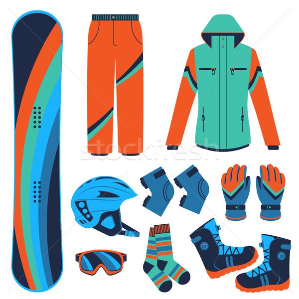 snowboard. Extreme winter sports. Stock photo © studioworkstock