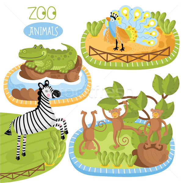 Set of vector animals. Stock photo © studioworkstock