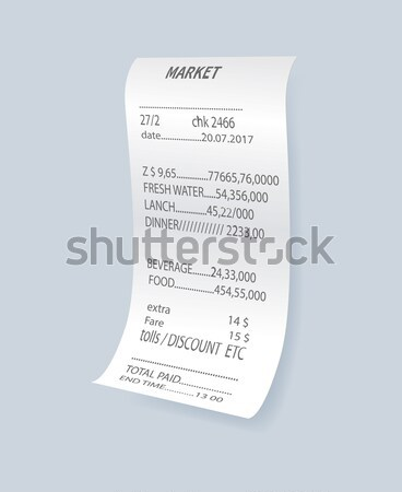 Cash receipt with prices Stock photo © studioworkstock