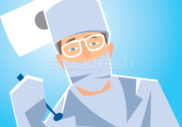 Close-up of a dentist. Stock photo © studioworkstock