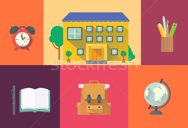 Set of school icons.  Stock photo © studioworkstock