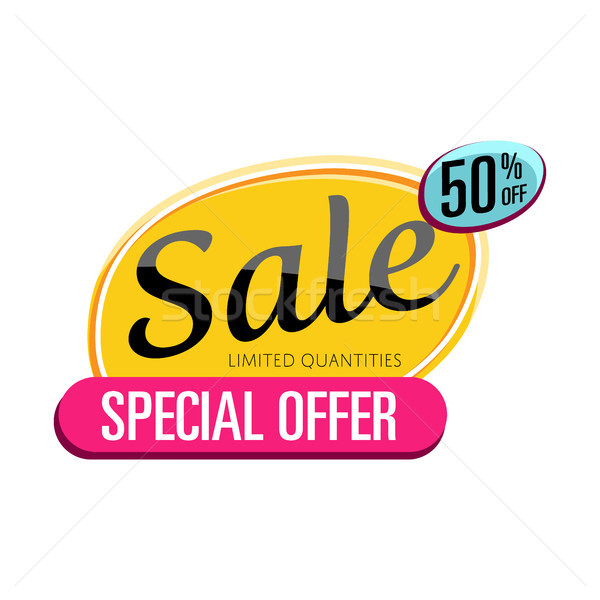 Special offer sale proposition isolated sticker Stock photo © studioworkstock