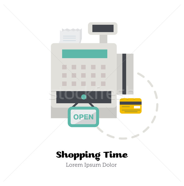 Credit cards accepted. Vector Illustration. Stock photo © studioworkstock