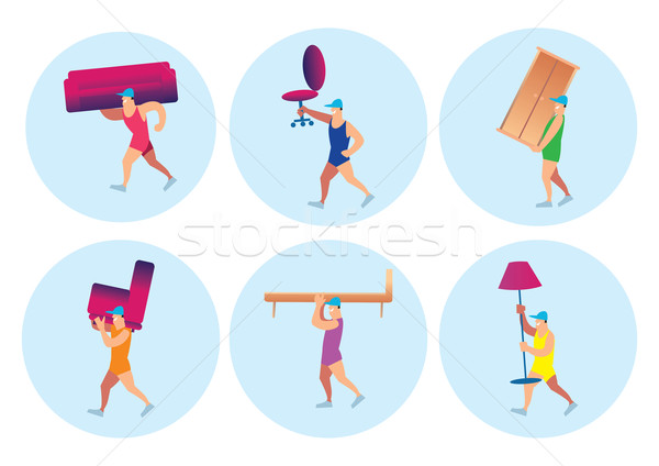 Home delivery services. Stock photo © studioworkstock