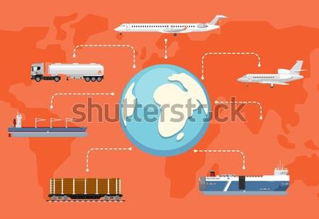 Aéroport logistique livraison affiche gestion commerciaux Photo stock © studioworkstock