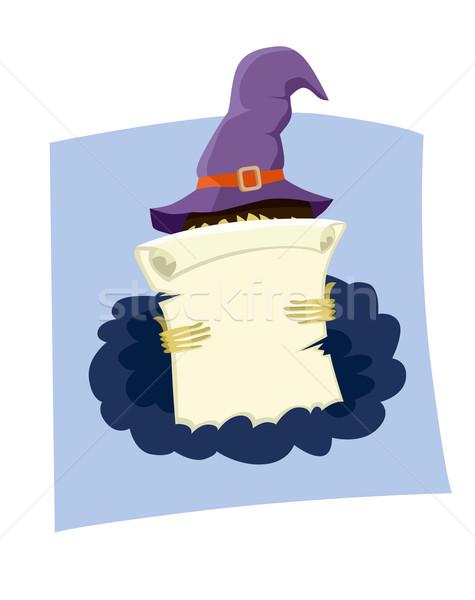 Antika kâğıt ilerleyin halloween uzay metin Stok fotoğraf © studioworkstock