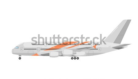 Takeoff passenger airplane isolated icon Stock photo © studioworkstock