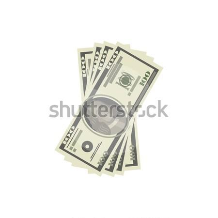 Izometrikus dollár bankjegyek izolált ikon rajz Stock fotó © studioworkstock