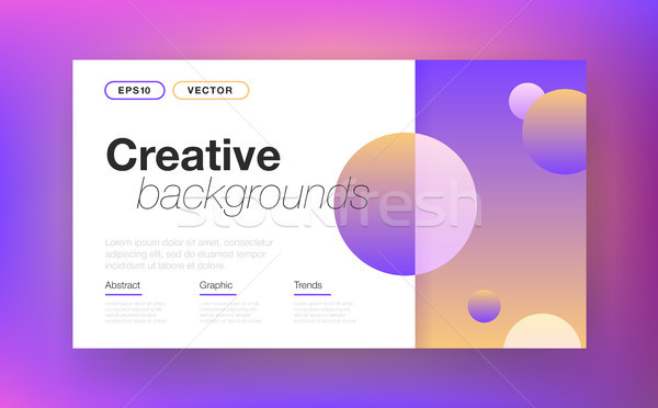 Abstract vector layout background Stock photo © studioworkstock